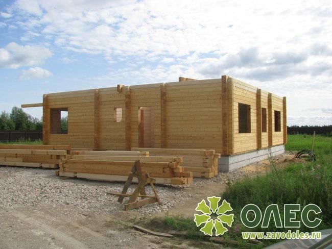 Проект дома из клееного бруса Рассвет 11