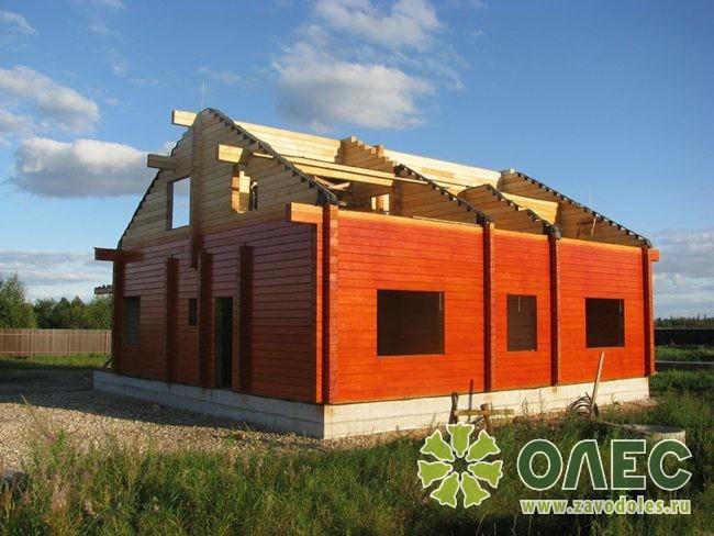 Проект дома из клееного бруса Рассвет 14