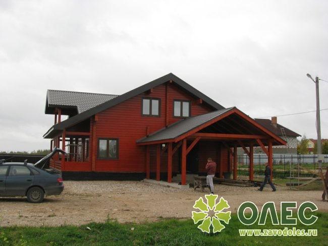 Проект дома из клееного бруса Рассвет 16