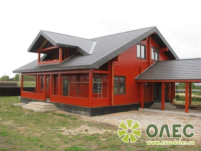 Проект дома из клееного бруса Рассвет 17