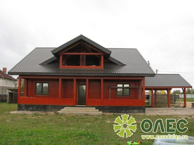 Проект дома из клееного бруса Рассвет 18