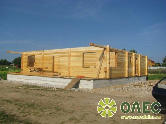Проект дома из клееного бруса Рассвет 8