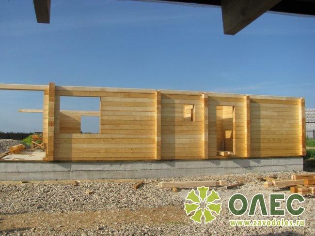 Проект дома из клееного бруса Рассвет 9