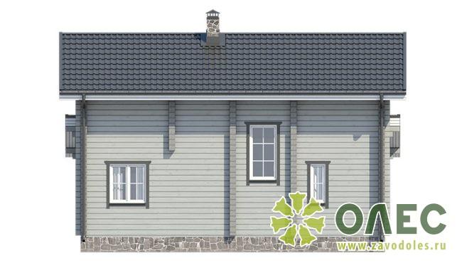 Проект дома из клееного бруса Кленовый 100