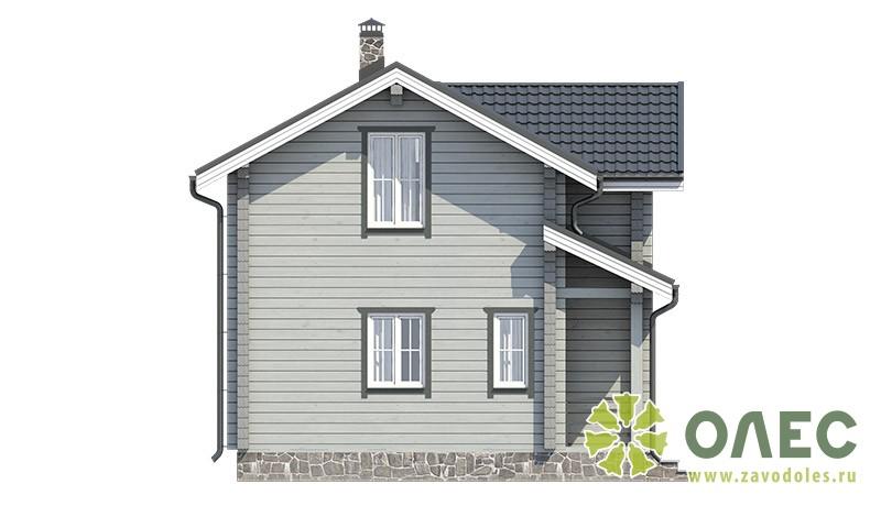 Проект дома из клееного бруса Кленовый 101