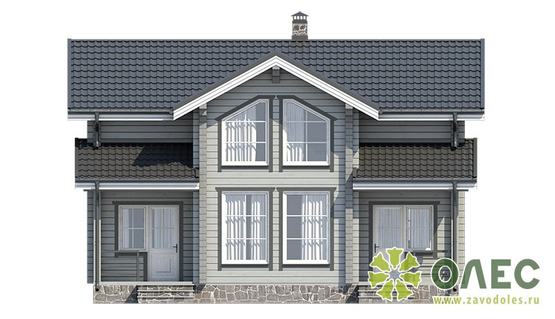 Проект дома из клееного бруса Кленовый 103