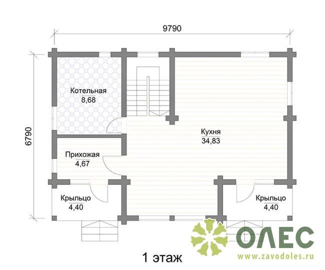 Проект дома из клееного бруса Кленовый 104