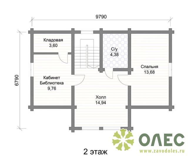 Проект дома из клееного бруса Кленовый 105