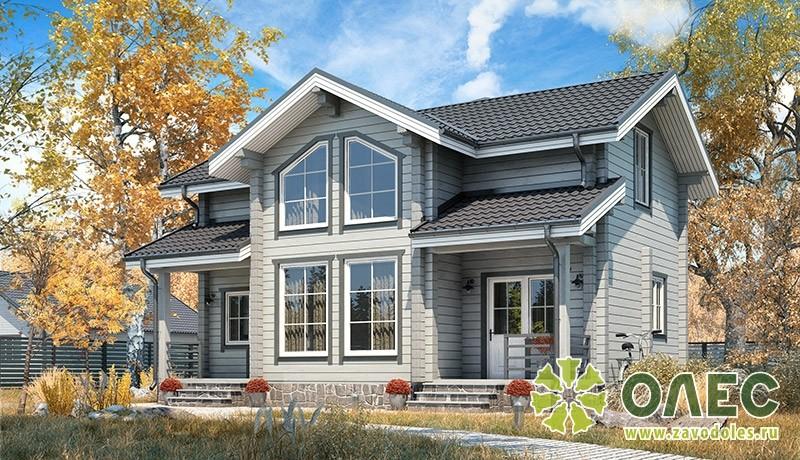Проект дома из клееного бруса Кленовый
