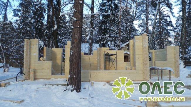 Проект дома из клееного бруса Кленовый 13
