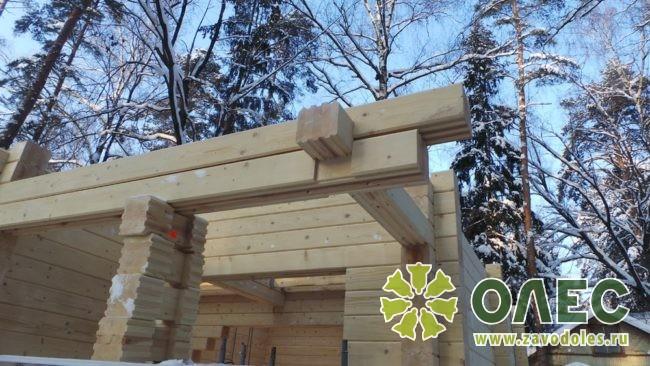 Проект дома из клееного бруса Кленовый 16