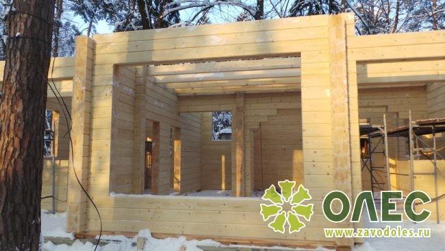 Проект дома из клееного бруса Кленовый 17