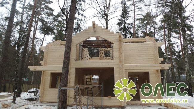 Проект дома из клееного бруса Кленовый 19