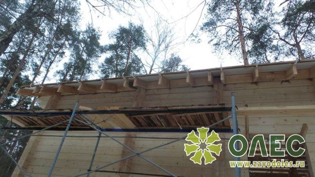 Проект дома из клееного бруса Кленовый 23