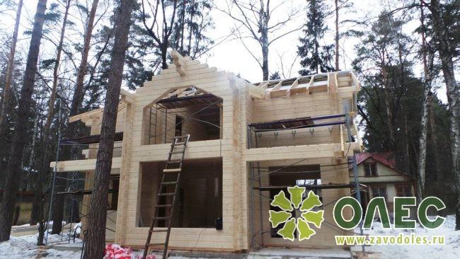 Проект дома из клееного бруса Кленовый 26