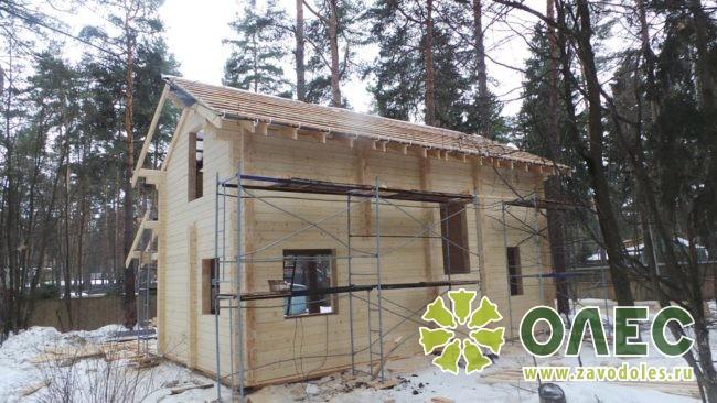 Проект дома из клееного бруса Кленовый 27
