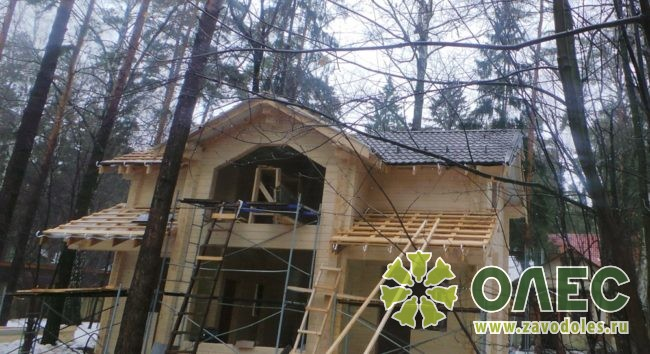 Проект дома из клееного бруса Кленовый 28