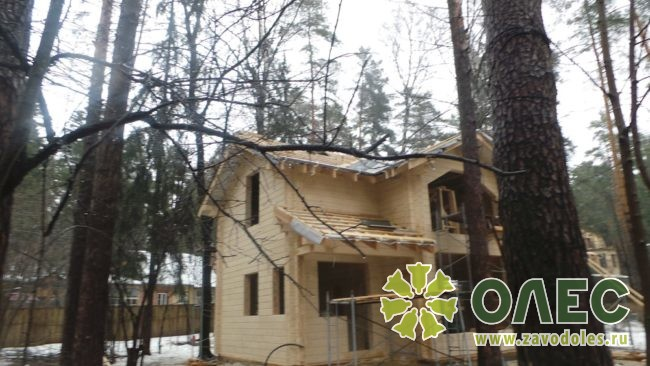 Проект дома из клееного бруса Кленовый 29