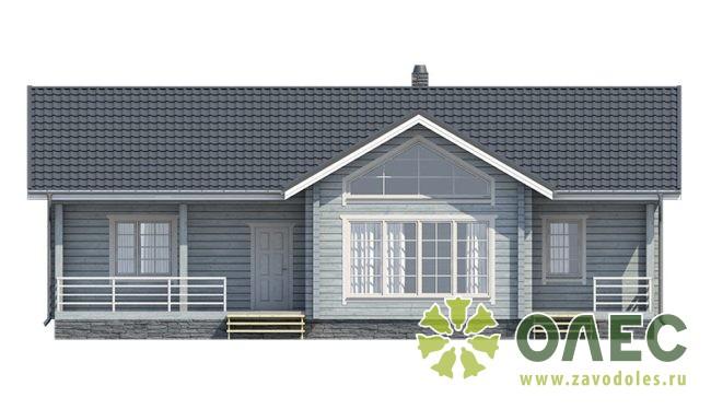 Проект дома из клееного бруса Лирика 10