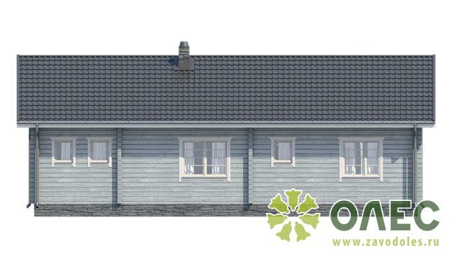 Проект дома из клееного бруса Лирика 12