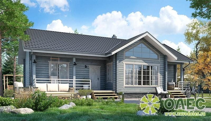 Проект дома из клееного бруса Лирика