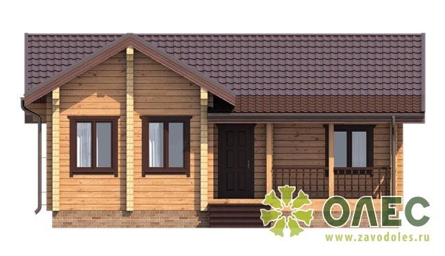 Проект дома из клееного бруса Савельевский 103