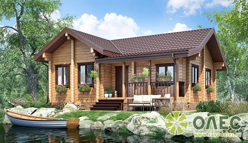 Проект дома из клееного бруса Савельевский
