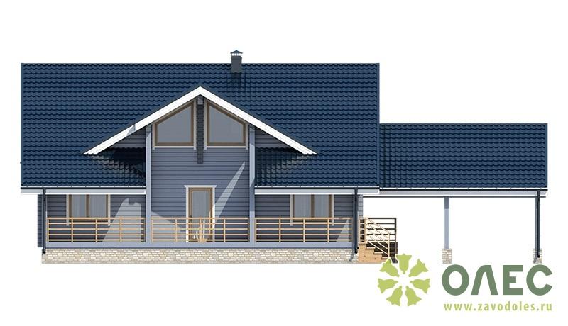 Проект дома из клееного бруса Рассвет 100