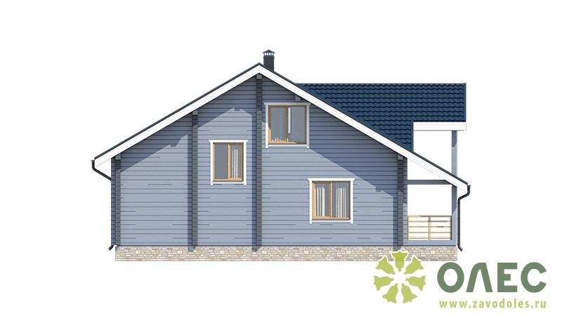 Проект дома из клееного бруса Рассвет 102