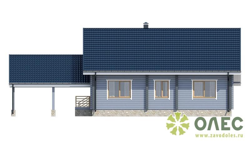 Проект дома из клееного бруса Рассвет 103