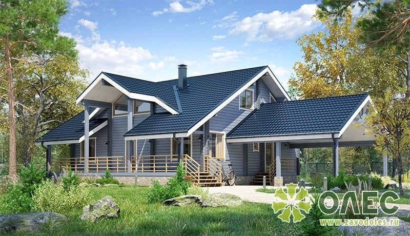Проект дома из клееного бруса Рассвет