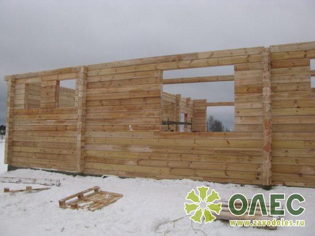 Проект дома из клееного бруса Лирика 15