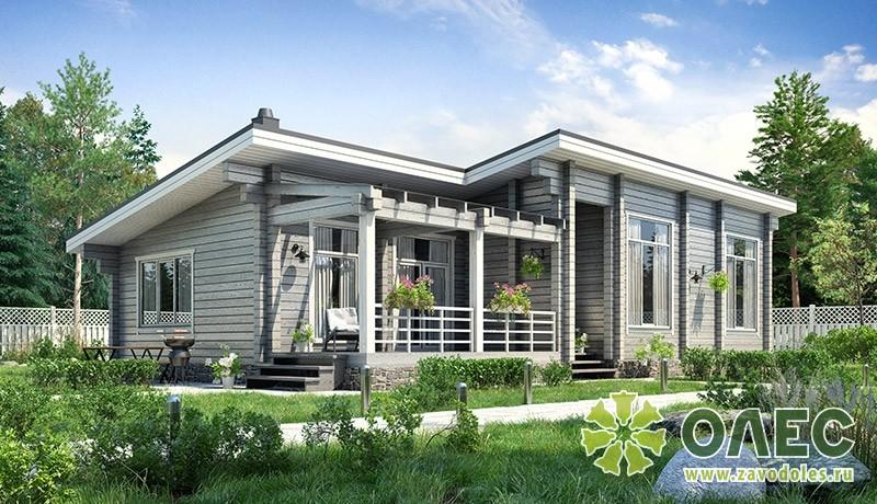 Проект дома из клееного бруса Петровские Просторы